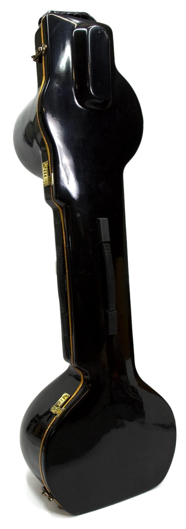 [インド品質]【PALOMA社製】ダブルトゥンバ練習用シタールセット(グラスファイバーケース) 13 - ハードケースと替え弦1セット、ミズラーブが付属するので安心!