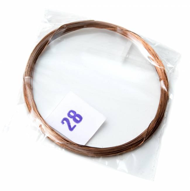 2弦用シタール弦(銅,28番)の写真