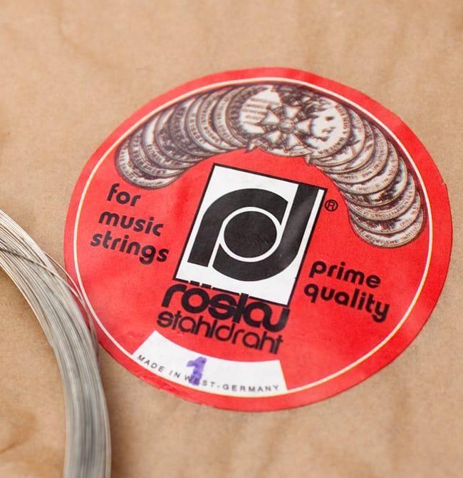 レスロー社ドイツ製シタール弦(共鳴弦用,1番) 2 - レスロー社のドイツ製です。なお、現在お送りする商品ではステッカーが青色になっています。