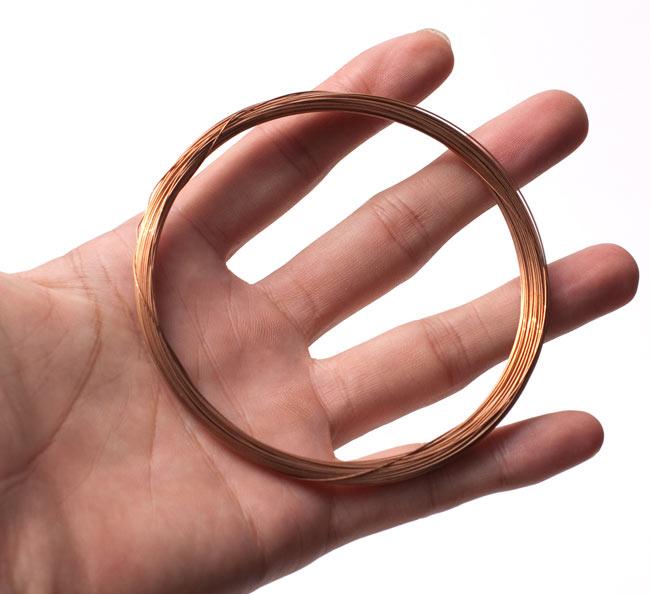 2弦用シタール弦(銅,27番) 5 - 全体の大きさはこんな感じです
