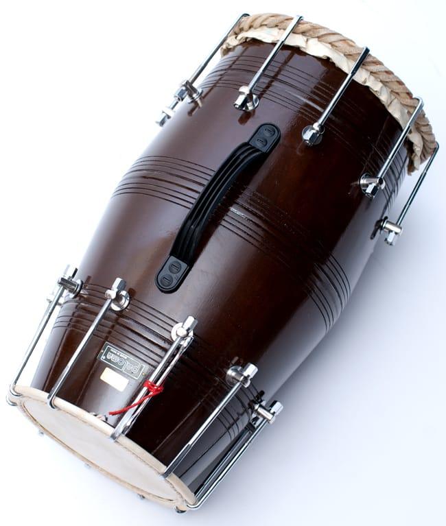 ドーラク(Dholak) インドの両面太鼓 ボルト締め高級タイプ 2 - 上からの写真です