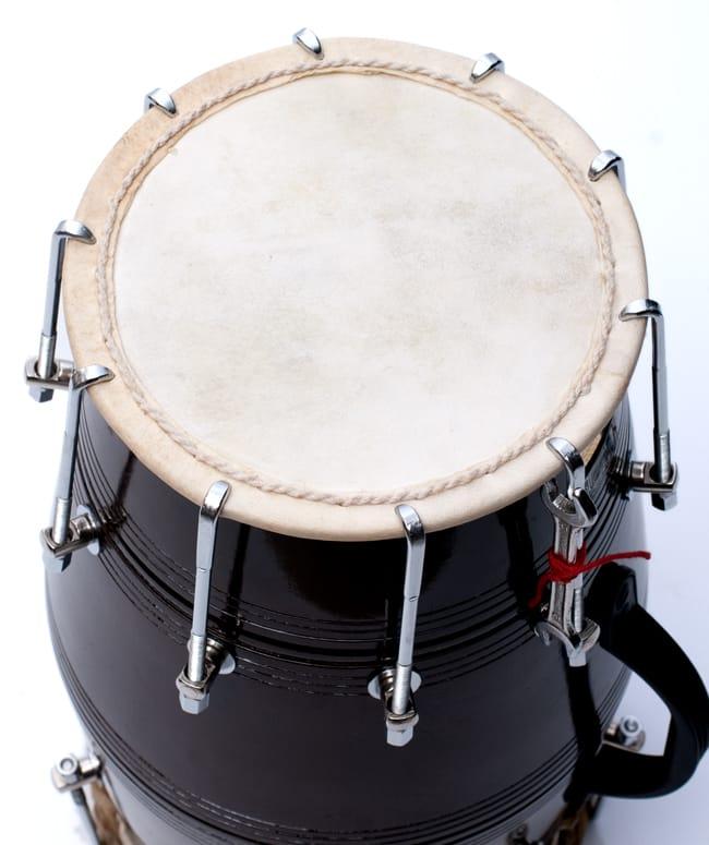 ドーラク(Dholak) インドの両面太鼓 ボルト締め高級タイプ 5 - 裏面の写真です