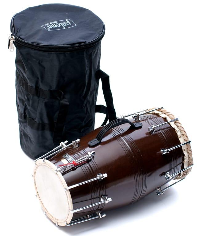 ドーラク(Dholak) インドの両面太鼓 ボルト締め高級タイプの写真