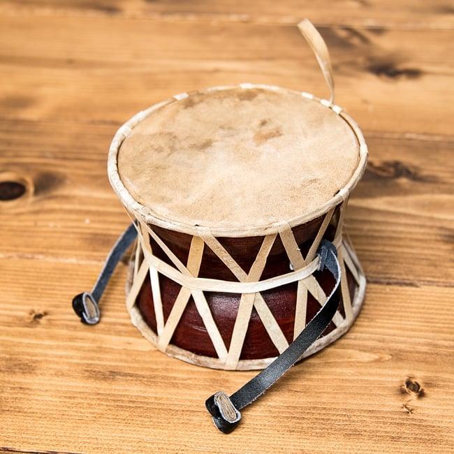 ネパールの民族打楽器 ダムルーの写真