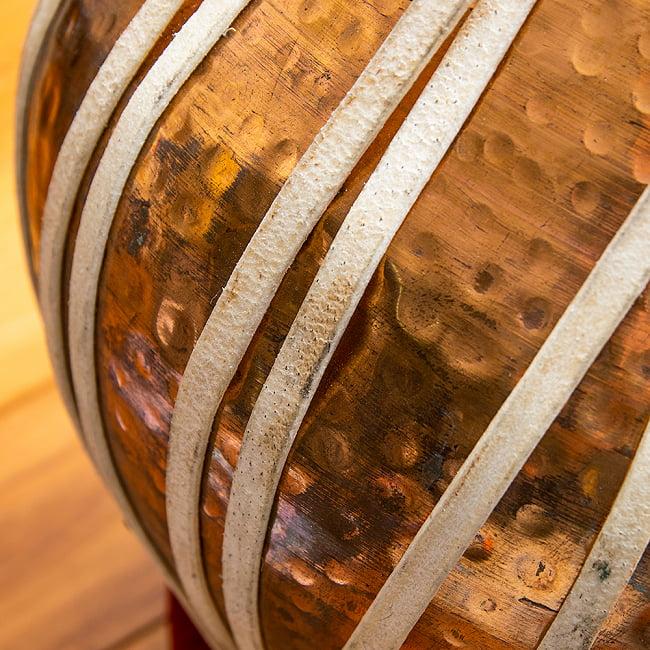 タブラ フルセット 銅・槌目仕上げ 12 - インドからの直輸入品のため多少の凹みなどがあります…