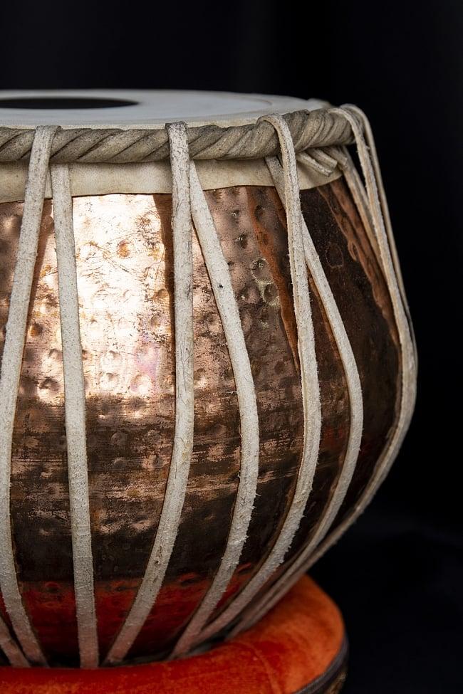 タブラ フルセット 銅・槌目仕上げ 5 - グラマラスな造形が美しいインドの打楽器です。