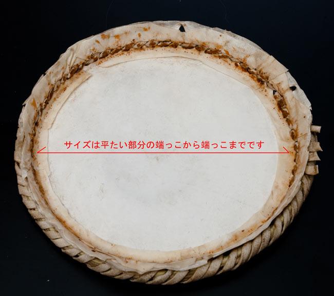 バヤンの皮 4 - 裏面とサイズの測り方です