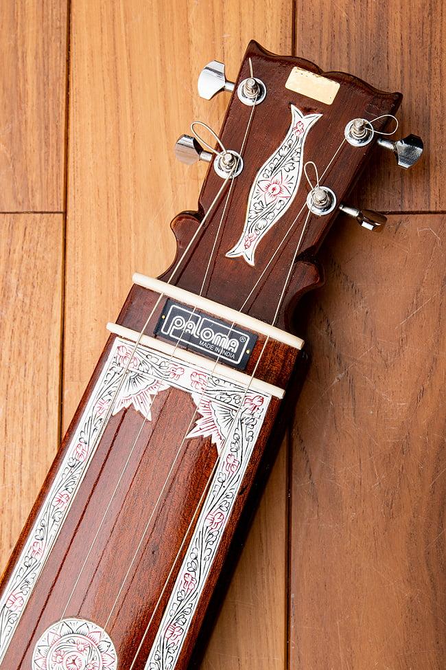 【PALOMA】楽器用 ボックス・タンプーラ・スペシャル 2 - ヘッドとナットの部分です
