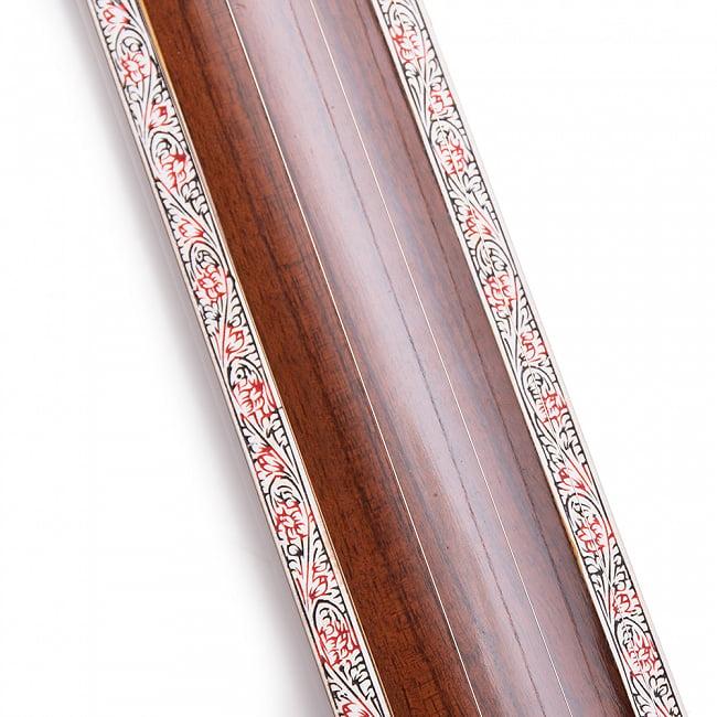 【Kanai Lal & sons】楽器伴奏用 4弦 タンプーラ 3 - 装飾もしっかいと入っています