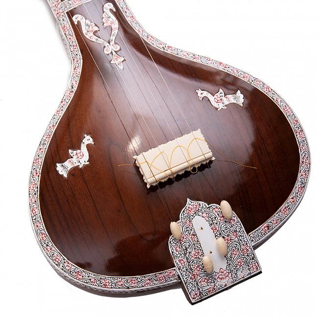 【Kanai Lal & sons】楽器伴奏用 4弦 タンプーラ 4 - 竿の部分です