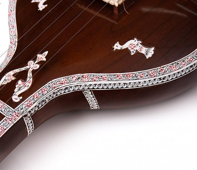 【Kanai Lal & sons】楽器伴奏用 4弦 タンプーラ 5 - 発送時にはペグは2本、取り外された状態でお送りします。