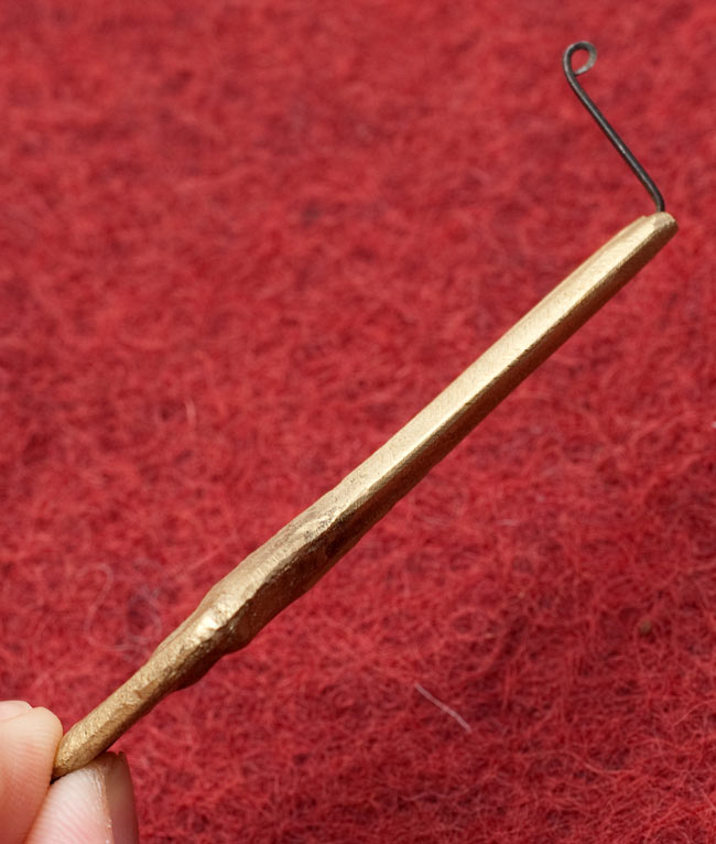 ネパールの真鍮製口琴 - 菱型[約6.5cm]の写真4 - 横からの写真です