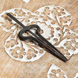 ネパールの鉄製口琴 - [約12.5cm]