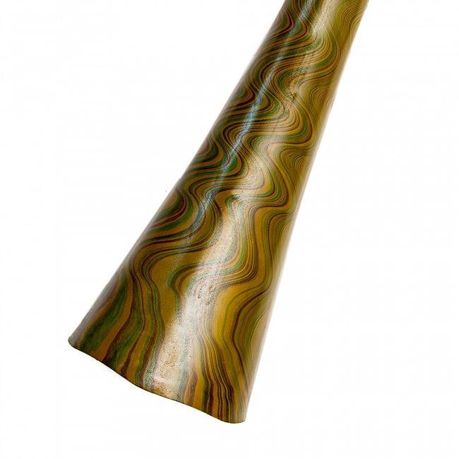 PVC製サイケデリックディジュリドゥ 145cm 11 - 5:カーキ