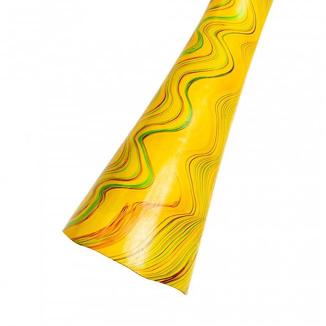 PVC製サイケデリックディジュリドゥ 145cm 13 - 7:イエロー