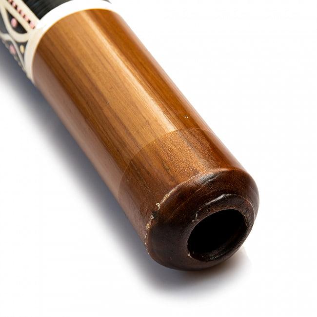 ハンドペインティング・バンブーディジュリドゥ 120cm 5 - 吹口の様子です。