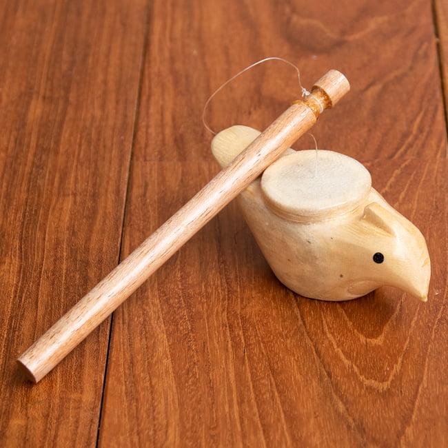 ゲロゲロ笛【ニワトリ】  ~回すとゲロゲロ音がする楽しい民族楽器~の写真