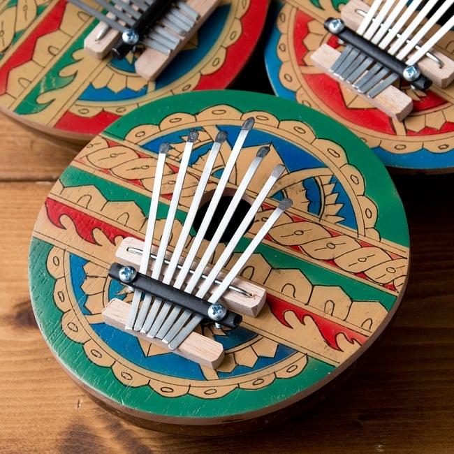 7弦カラフルココナッツカリンバ 2 - とてもかわいいカリンバ