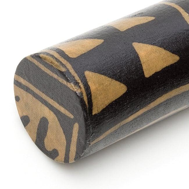 レインスティック 雨音がする民族楽器(100cm、PVC【伝統模様】) 3 - 拡大写真です。