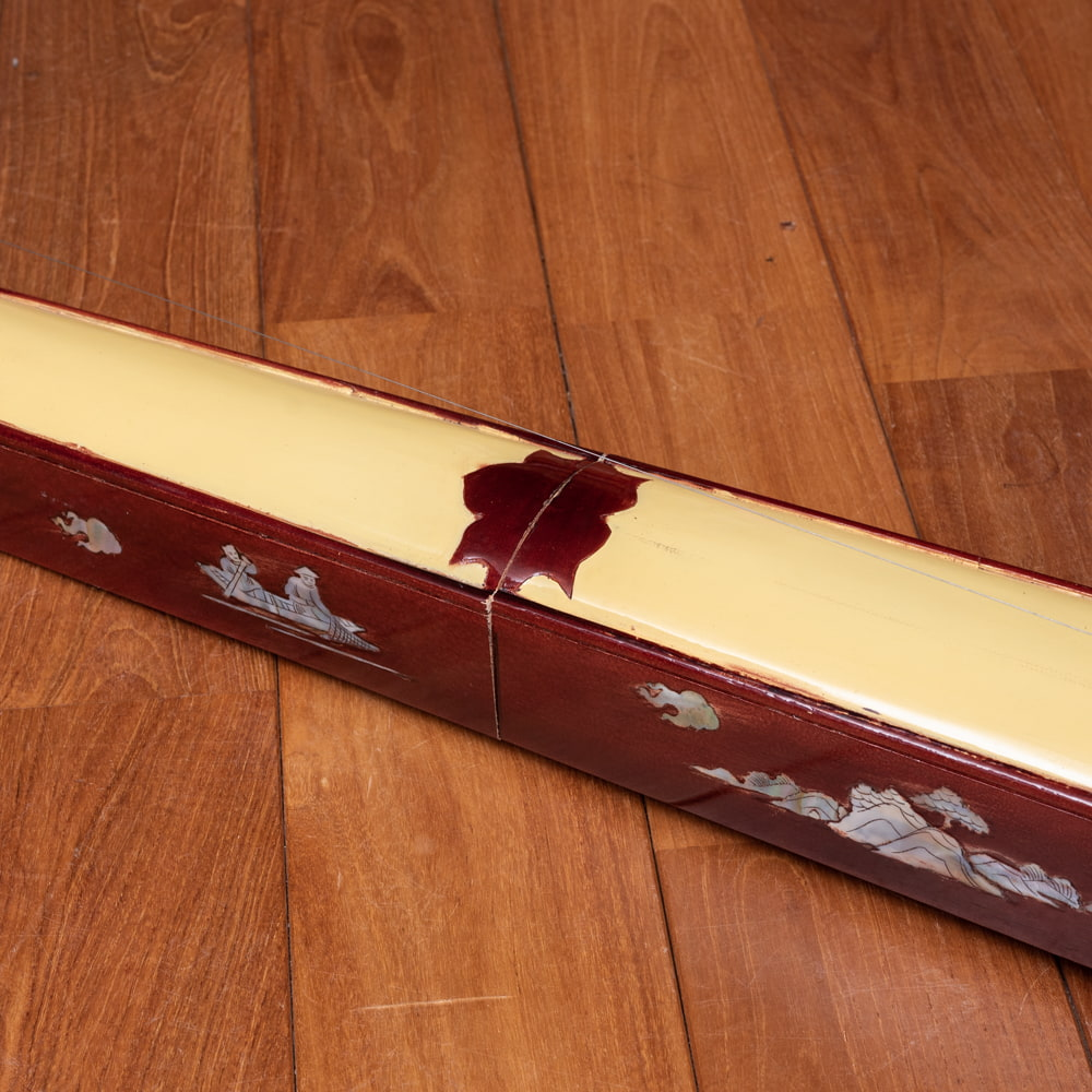 ベトナムの一弦琴 ダン・バウ −良品質 4 - ボディの中央部分です。