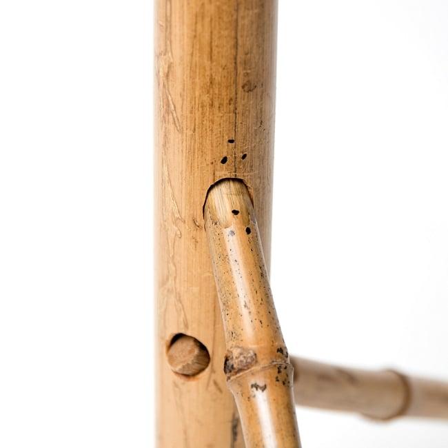 ベトナムの竹琴(トルン) 約95cm 10 - このように、同じマークが向かい合うよう、しっかり取り付けます。