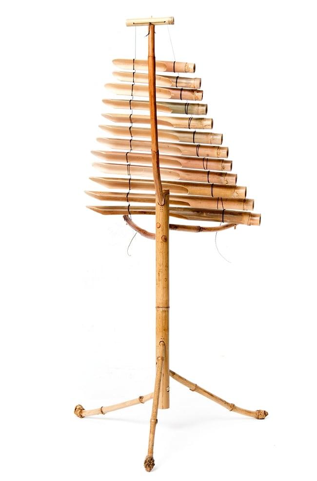 ベトナムの竹琴(トルン) 約95cm 2 - ベトナムではトルンと呼ばれている竹琴です。