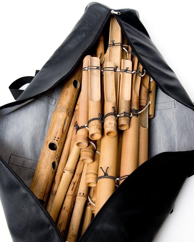 ベトナムの竹琴(トルン) 約125cm 14 - このように収納できます
