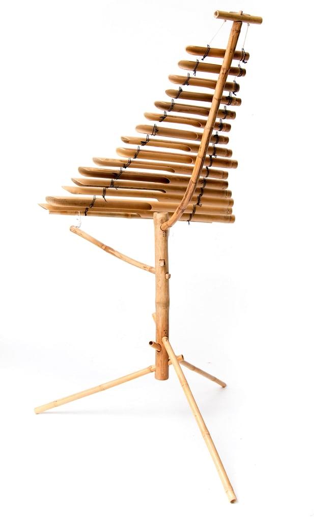 ベトナムの竹琴(トルン) 約125cm 3 - 後ろからの写真です