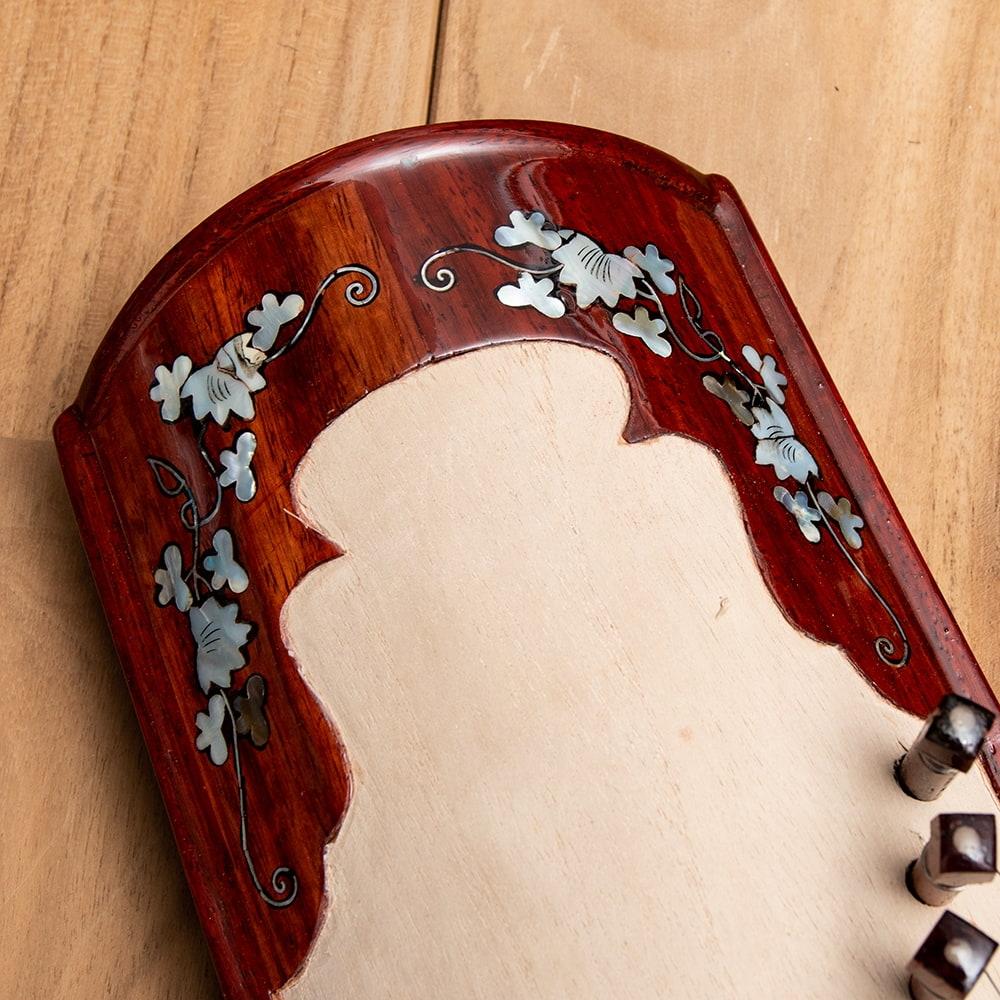 ベトナムの琴(ダン・トラン) - 装飾付き良品質 2 - 細部を見てみました。