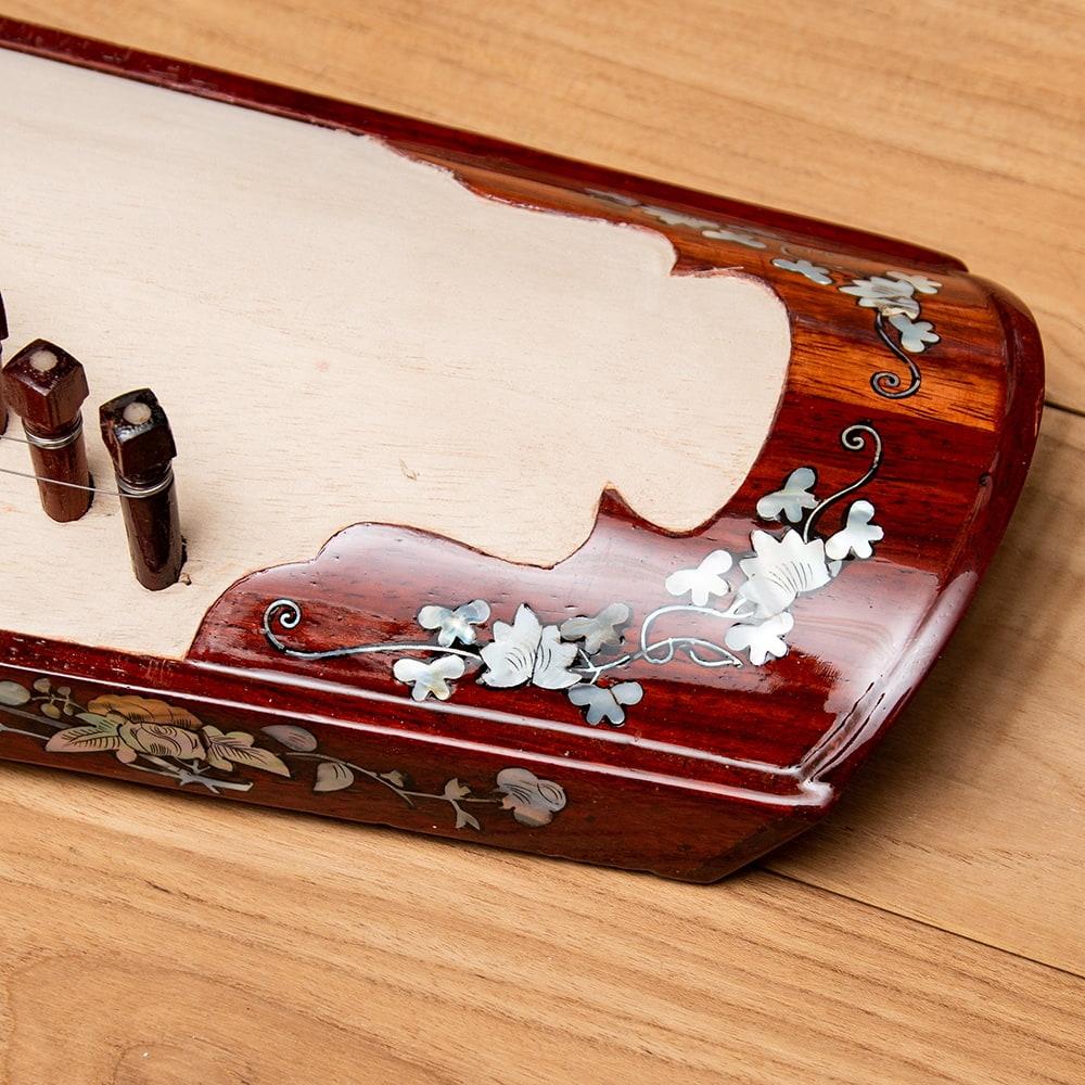 ベトナムの琴(ダン・トラン) - 装飾付き良品質 7 - 華麗な装飾が施されています。