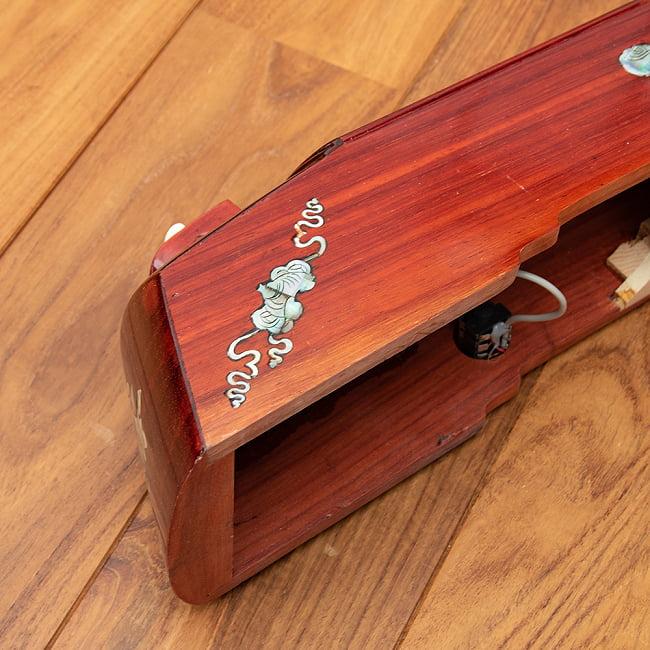 ベトナムの一弦琴 ダン・バウ 良品質(大) 5 - 側面にも装飾が施されています。