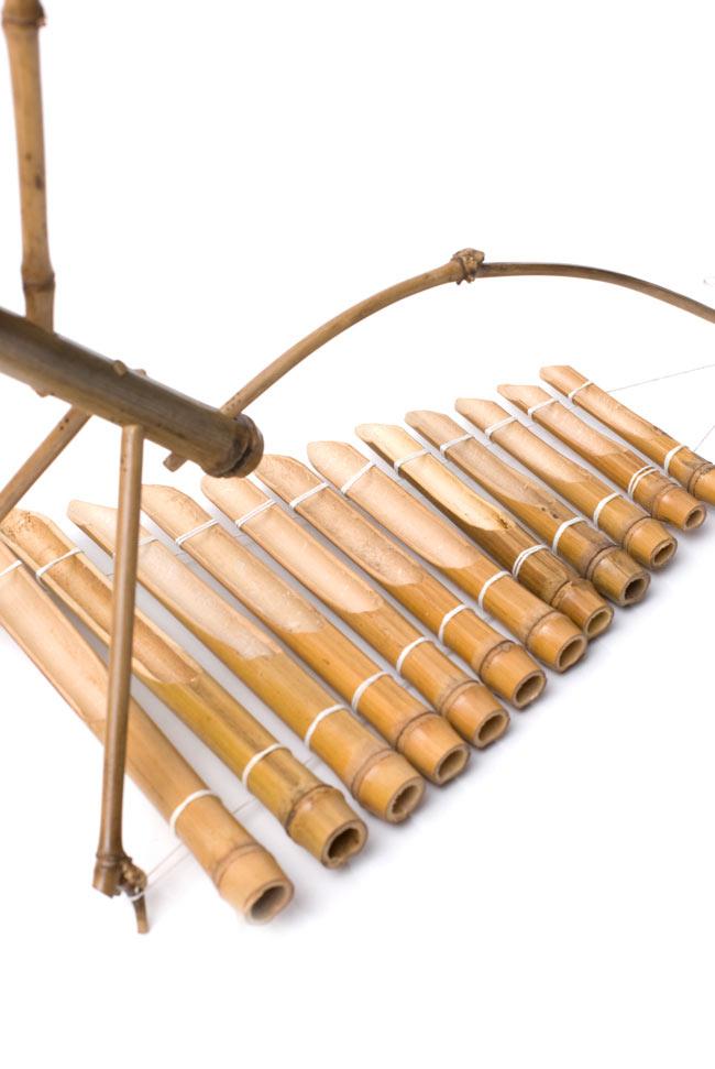 ベトナムのミニ竹琴(ダン・トルン) 4 - 裏面を見てみました。