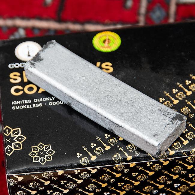 シーシャの炭 シルバーチャコール - 60個入り 6 - 裏面です