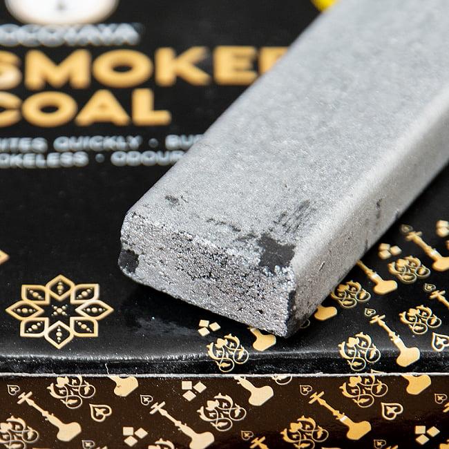 シーシャの炭 シルバーチャコール - 60個入り 7 - 側面です