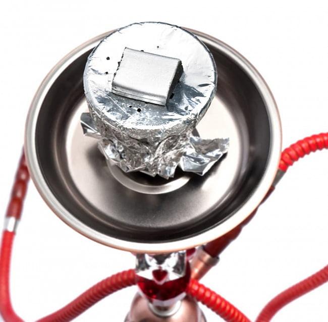 シーシャの炭 シルバーチャコール - 60個入り 9 - シーシャへの使用例です。樹脂香などお香にも、煙と匂いが少ないので向いています。