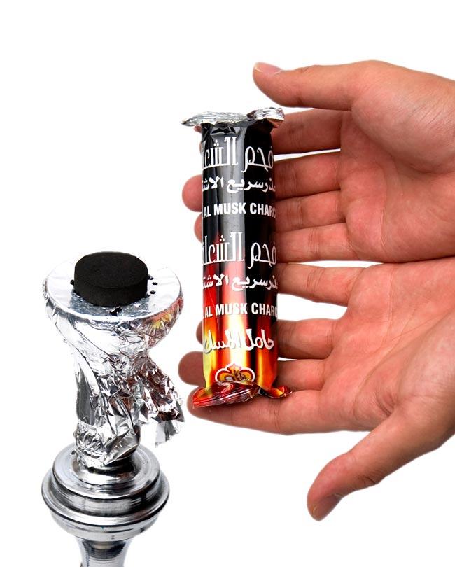 シーシャの炭 - 10個入り 2 - 火が付きやすく使いやすいですよ!
