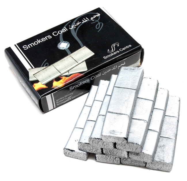 シーシャの炭 シルバーチャコール - 30個入りの写真
