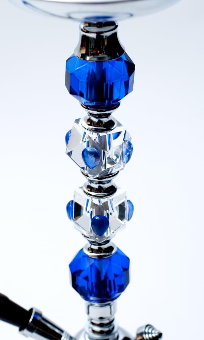 シーシャ(水タバコ)青【約65cm】の写真3 - 中央のクリスタル部分です。