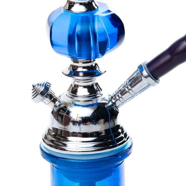 シーシャ(水タバコ)青【約53cm】 4 - ボトルとの付け根の拡大です