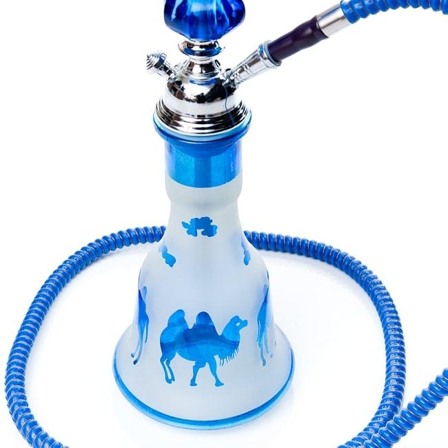 シーシャ(水タバコ)青【約53cm】 5 - ガラスの拡大です。※海外製品の為、若干プリントの剥がれや小傷等がある場合がございます。