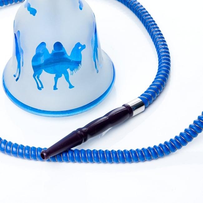 シーシャ(水タバコ)青【約53cm】 6 - こちらがホースの吸引口になります。