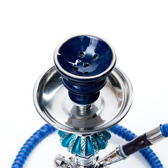 シーシャ(水タバコ)青 【約31cm】の写真2 - こちらに炭とフレーバーを乗せます。