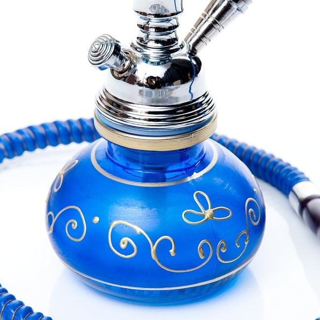 シーシャ(水タバコ)青 【約31cm】の写真5 - こちらがホース吸引口になります。