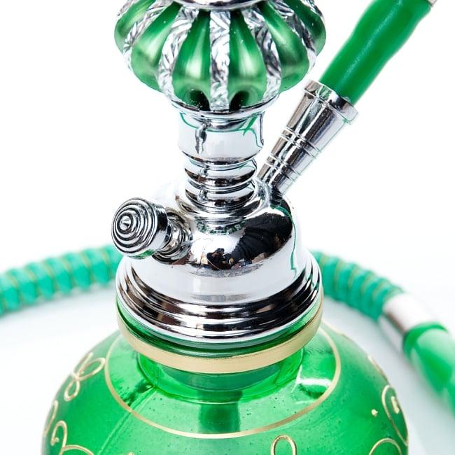 シーシャ(水タバコ)緑 【約31cm】の写真4 - こちらが【選択:A】のボトルになります。