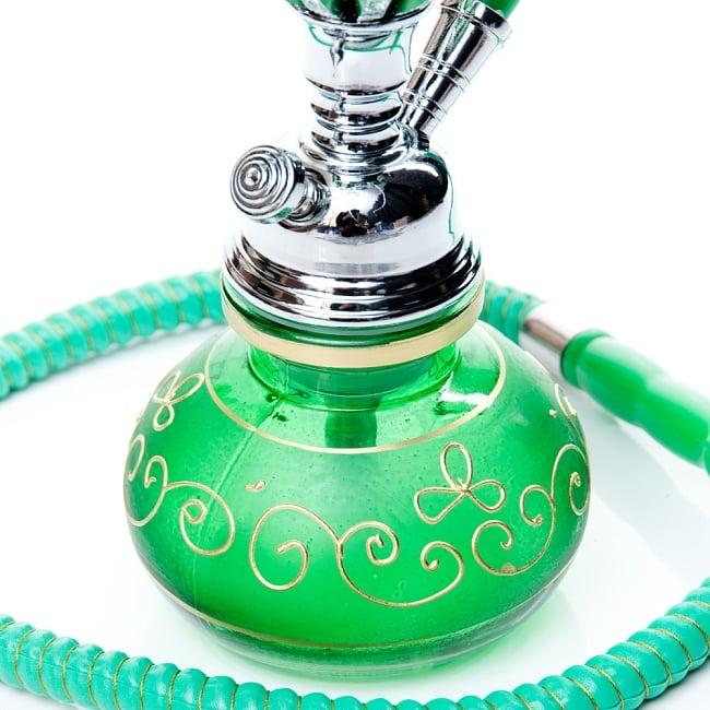 シーシャ(水タバコ)緑 【約31cm】の写真5 - こちらが【選択:B】のボトルになります。