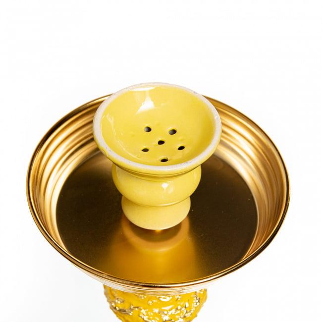 シーシャ(水タバコ) 黄 【約82cm】 2 - この部分に炭とフレーバーを置きます。