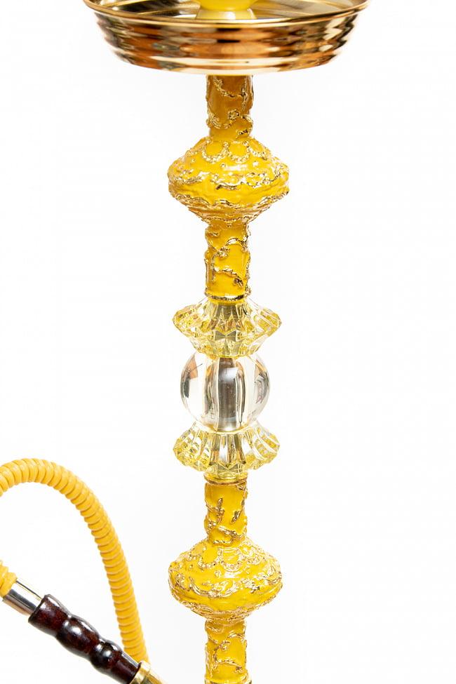 シーシャ(水タバコ) 黄 【約82cm】 3 - ゴージャスな印象を与えるシーシャです。