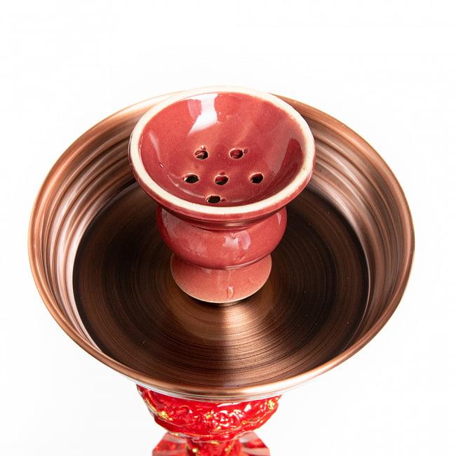シーシャ(水タバコ) 赤 【約82cm】 2 - この部分に炭とフレーバーを置きます。