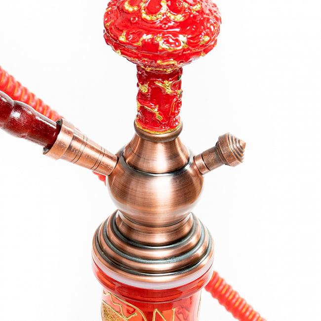 シーシャ(水タバコ) 赤 【約82cm】 4 - ボトルとの接合部分の様子です。