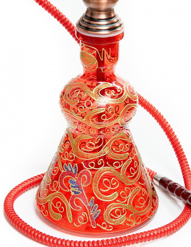 シーシャ(水タバコ) 赤 【約82cm】 5 - ボトルの拡大写真です
